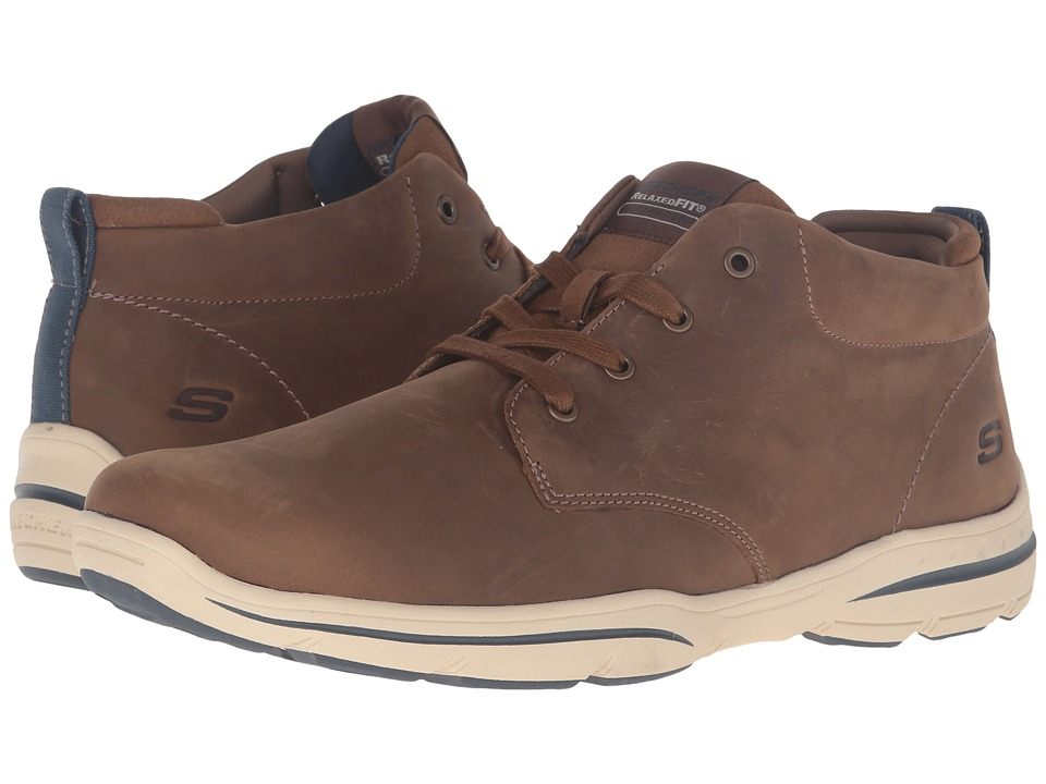 SKECHERS - Relaxed Fit Harper - Melden (Desert Leather) Men's Lace-up Boots