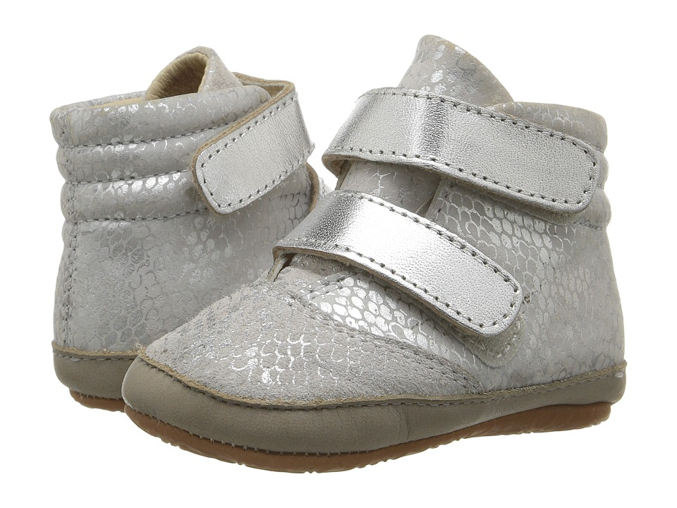 Old Soles - Space Cadet (Infant/Toddler) (Silver Python/Silver/Elephant Grey) Kids Shoes