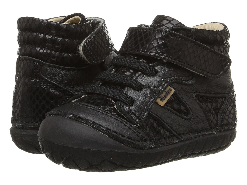 Old Soles - Pave Woolfy (Infant/Toddler) (Black Snake/Black) Kids Shoes