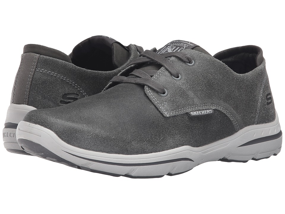 SKECHERS Relaxed Fit Harper Epstein (Gray Leather) Men