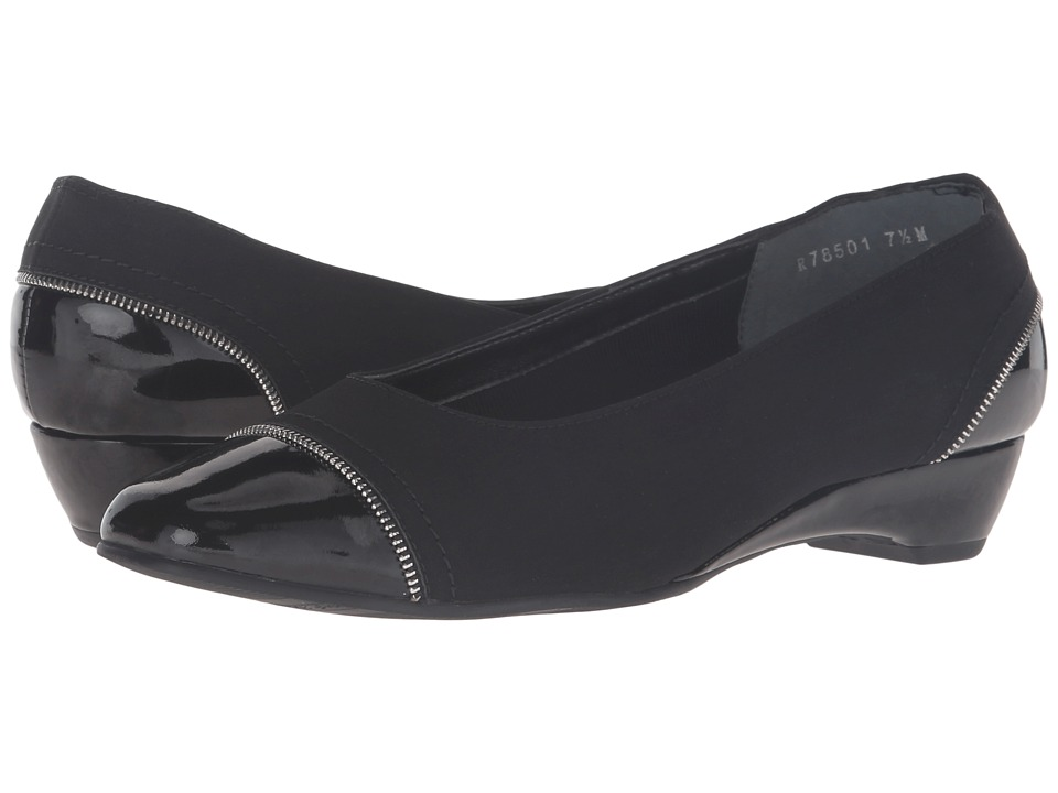 Rose Petals - Bonjour (Black Micro/Black Patent) Women's Shoes