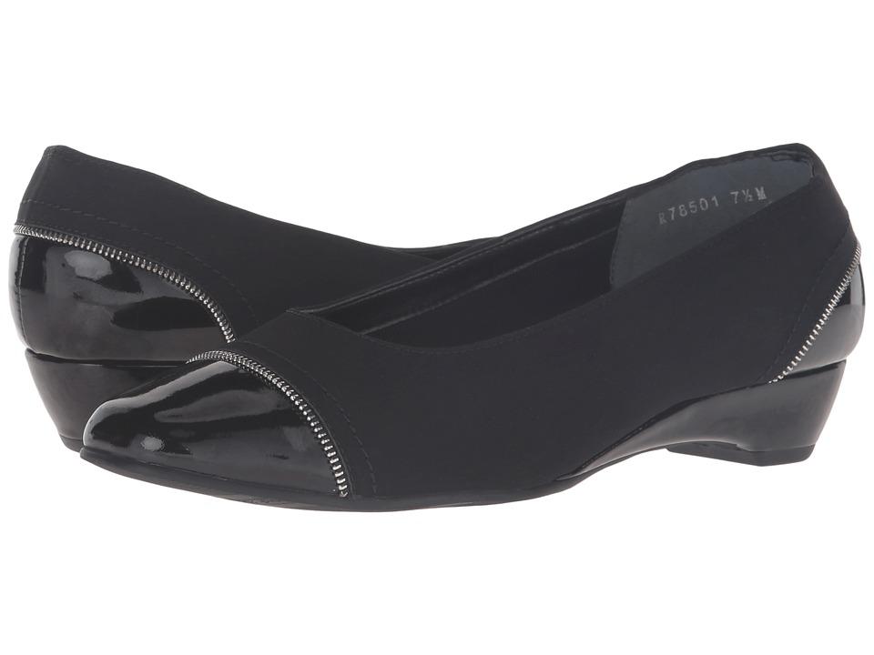 Rose Petals Bonjour (Black Micro/Black Patent) Women's Shoes