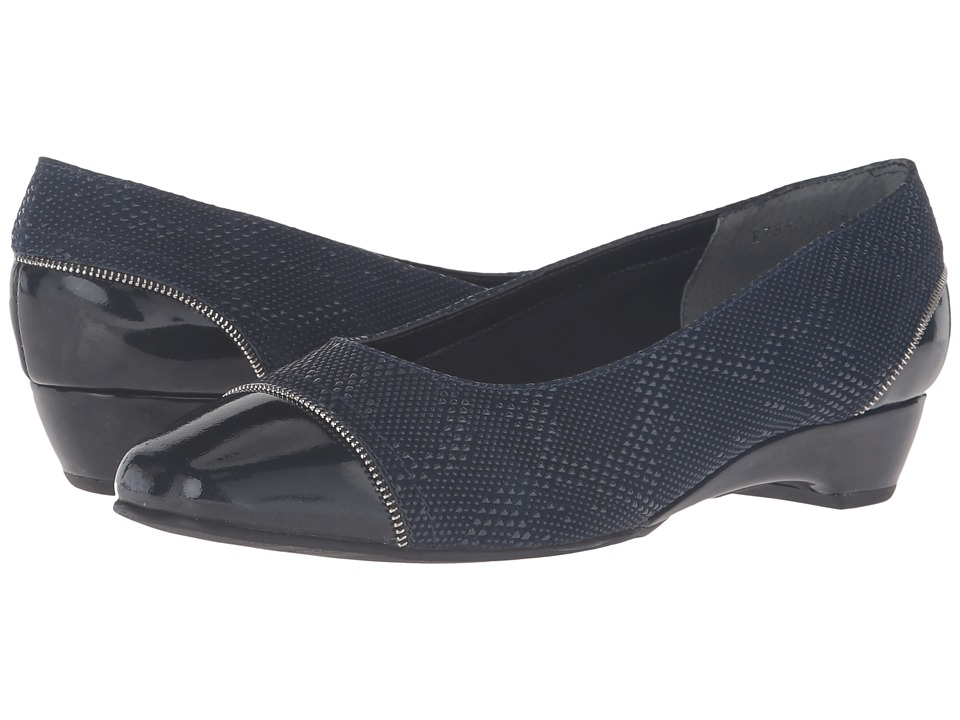 Rose Petals - Bonjour (Navy Teardrop Print/Navy Patent) Women's Shoes