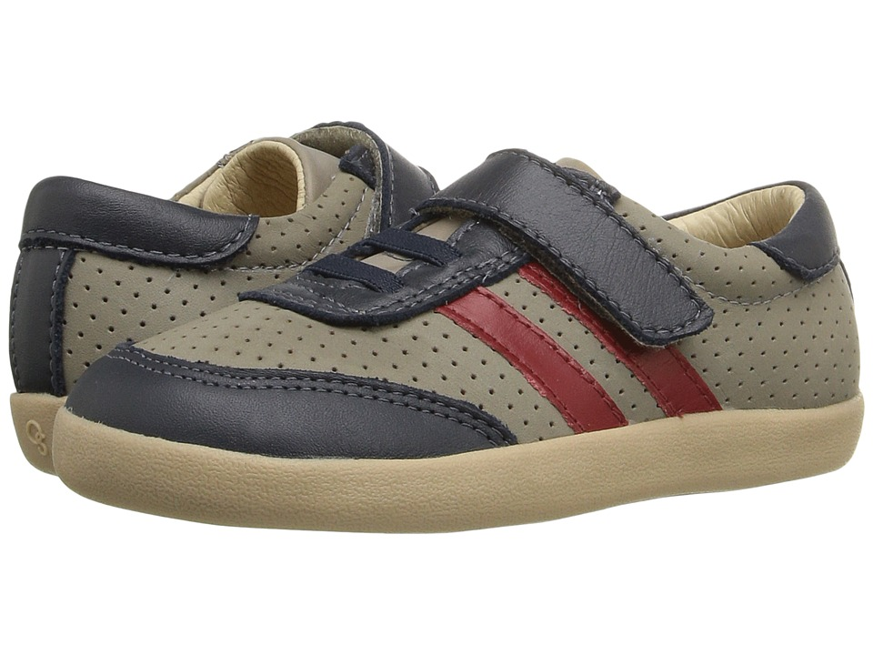Old Soles - Cam Shoe (Toddler/Little Kid) (Elephant Grey/Navy/Red) Boy's Shoes