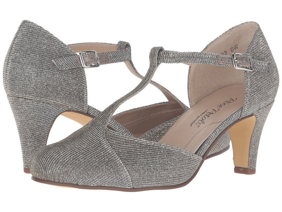 Rose Petals - Canopy (Pewter Sparkle Fabric) Women's Shoes