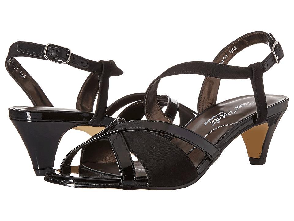 Rose Petals - Lafayette (Black Micro/Black Patent) Women's Shoes