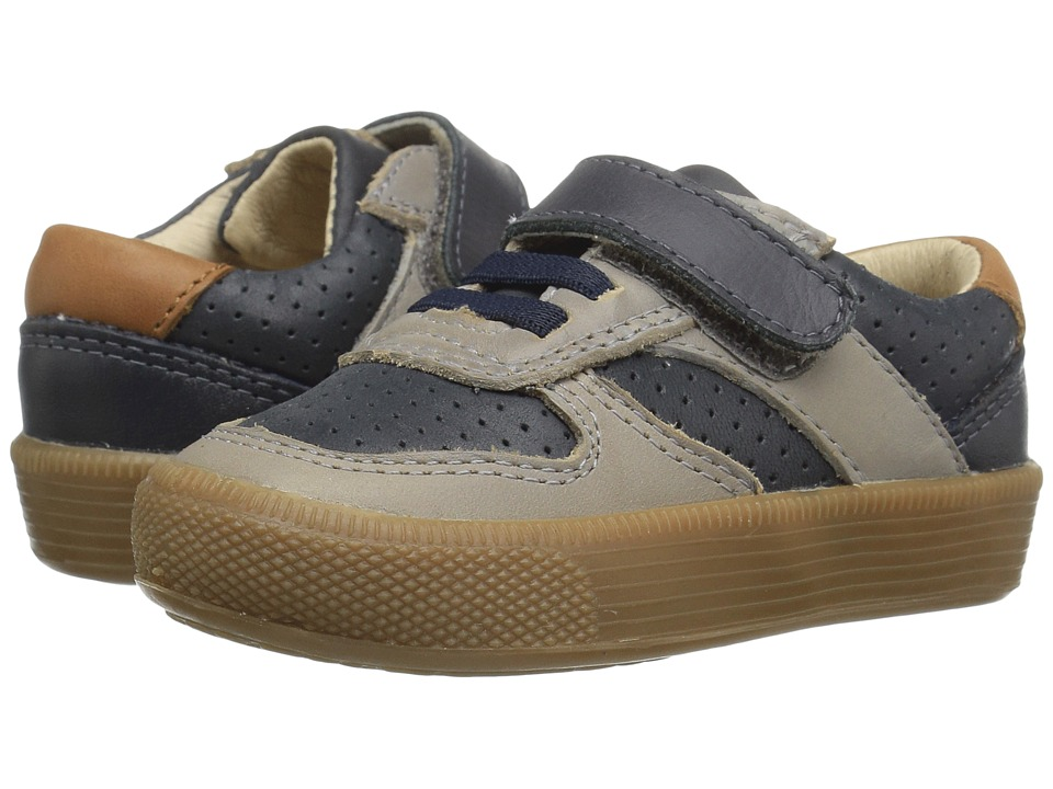 Old Soles - Urban Track Shoe (Toddler/Little Kid) (Distressed Navy/Elephant Grey/Tan) Boy's Shoes