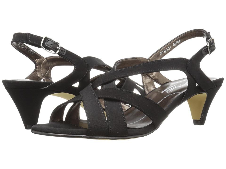 Rose Petals - Lassie (Black Micro) Women's Shoes