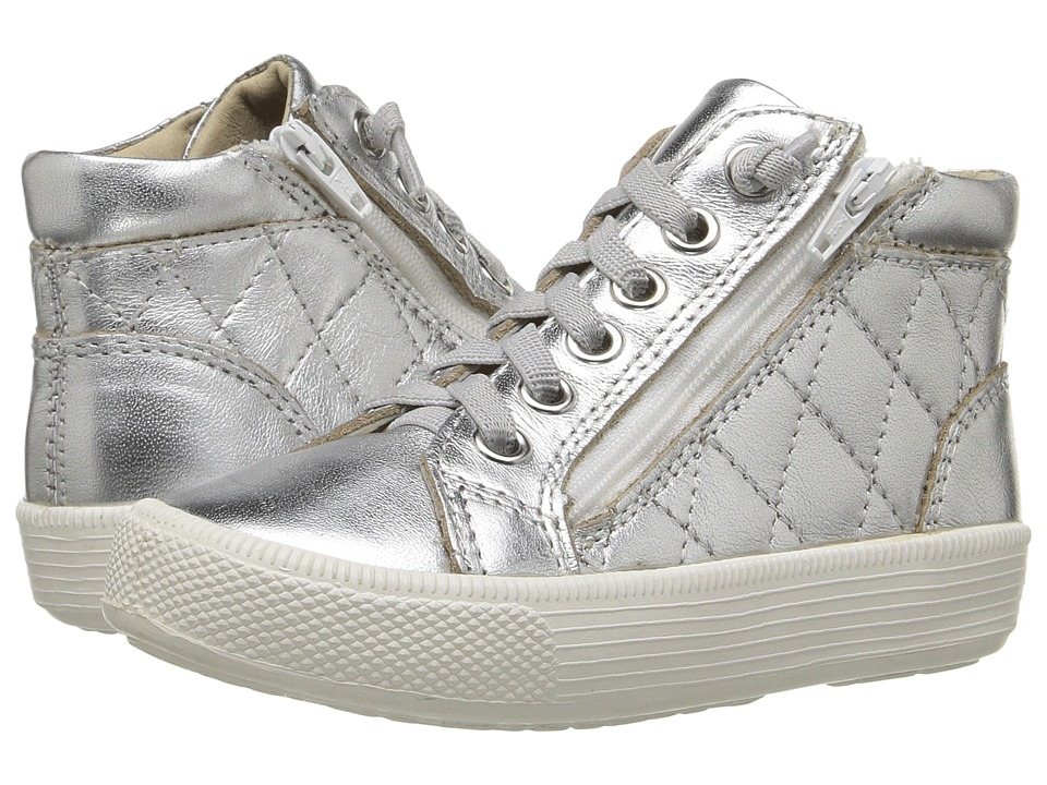 Old Soles - Eazy Quilt (Toddler/Little Kid) (Silver) Girl's Shoes
