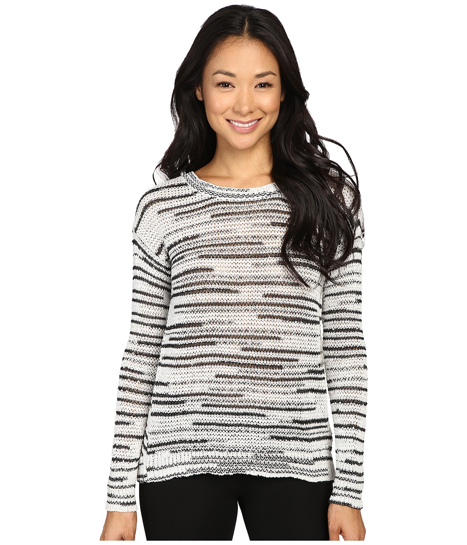 Calvin Klein Jeans - 5GG Space Dye Crew (Black/White Combo) Women's Sweater