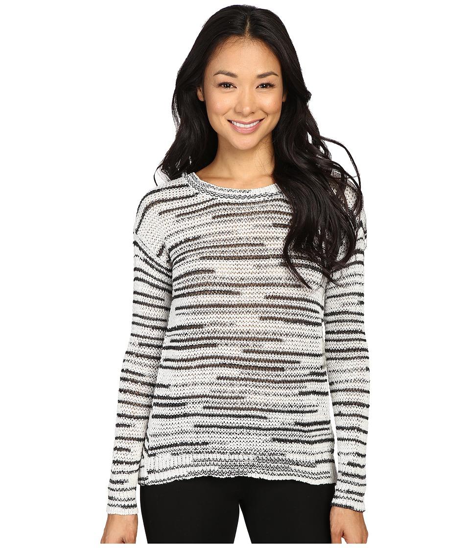 Calvin Klein Jeans - 5GG Space Dye Crew (Black/White Combo) Women's Sweater