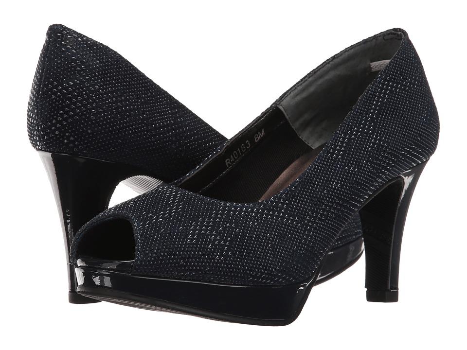 Rose Petals - Prom (Navy Teardrop Print/Navy Patent) Women's Shoes