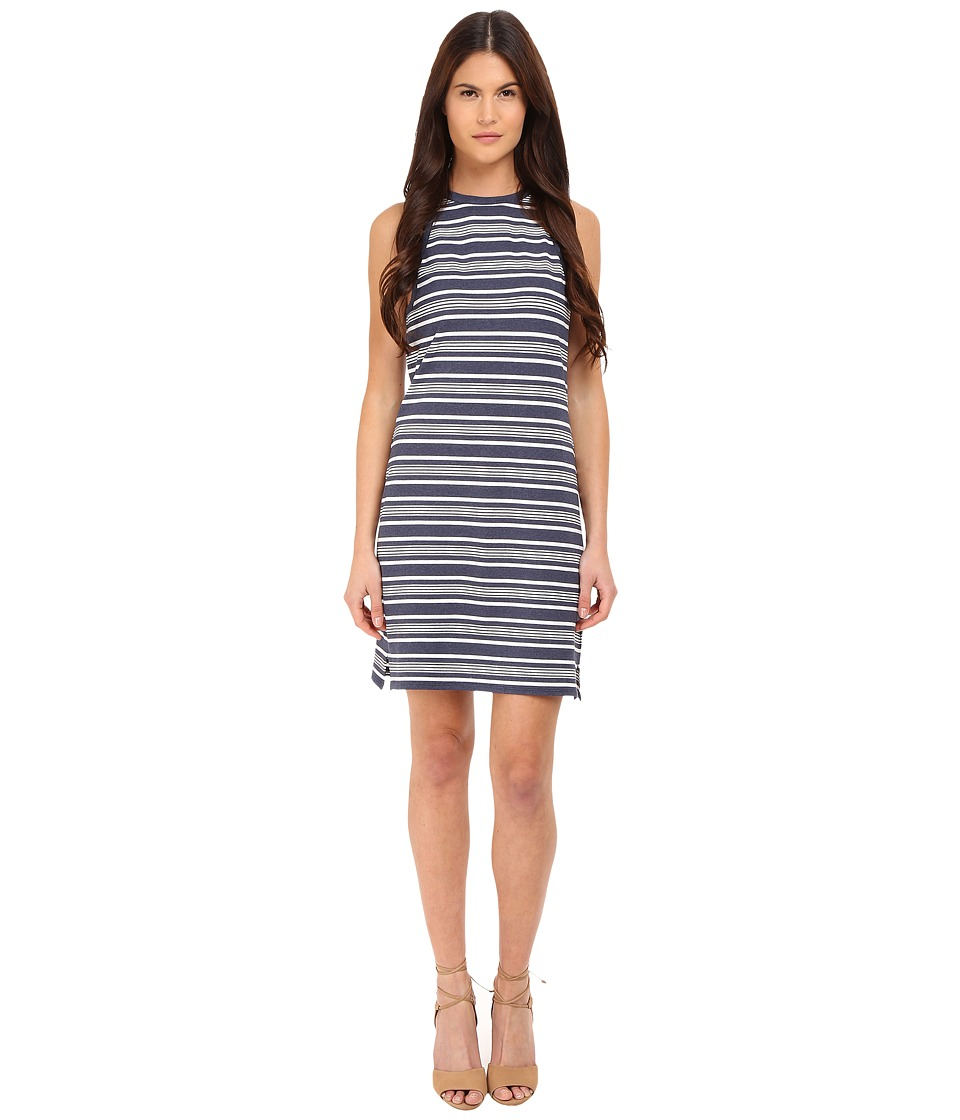 Theory Sonaki Elevate Knit Dress (Indigo/White) Women