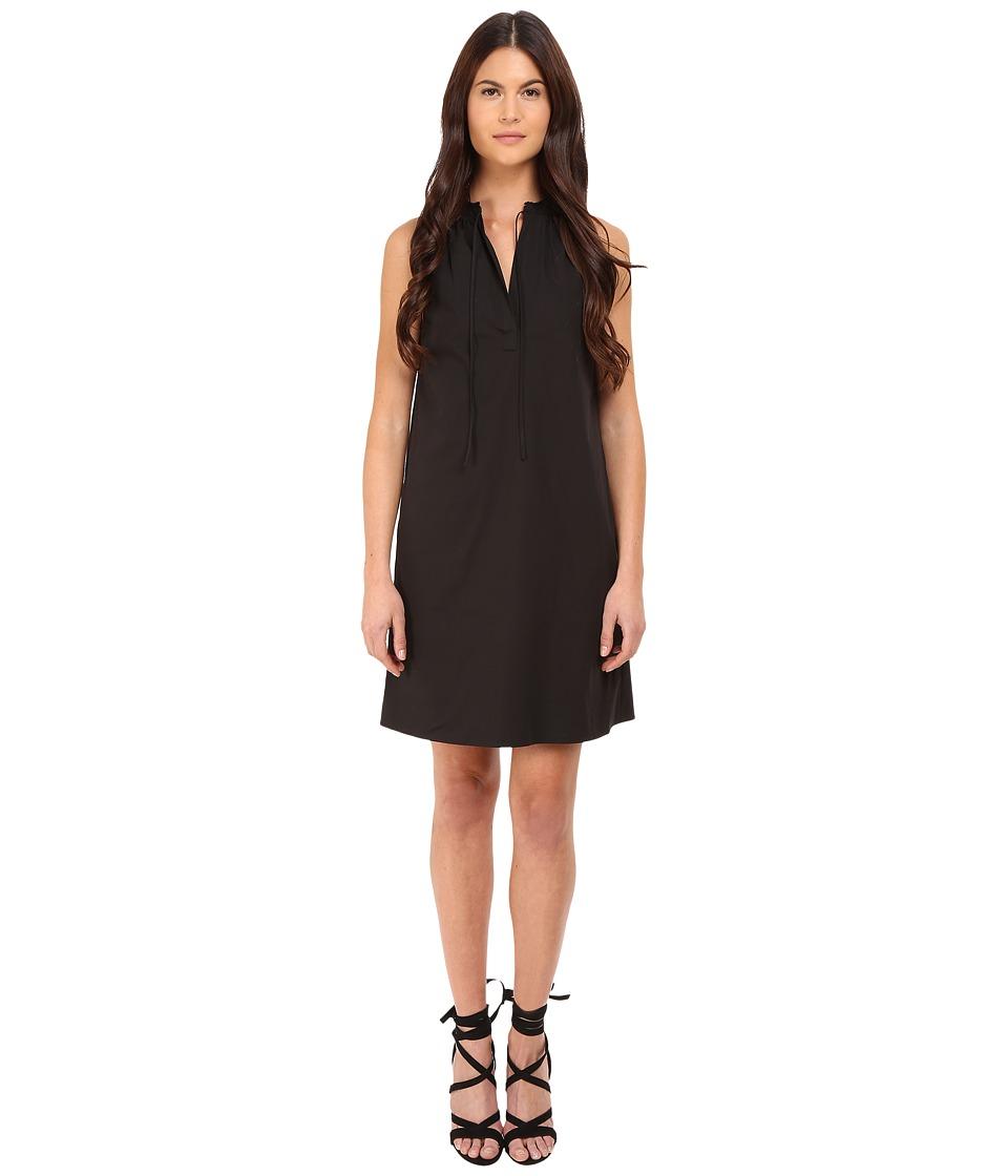Theory Nallane Light Poplin Dress (Black) Women
