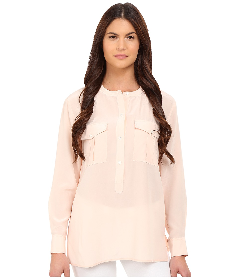 Theory - Damaris Summer Silk Blouse (Pearl Pink) Women's Blouse