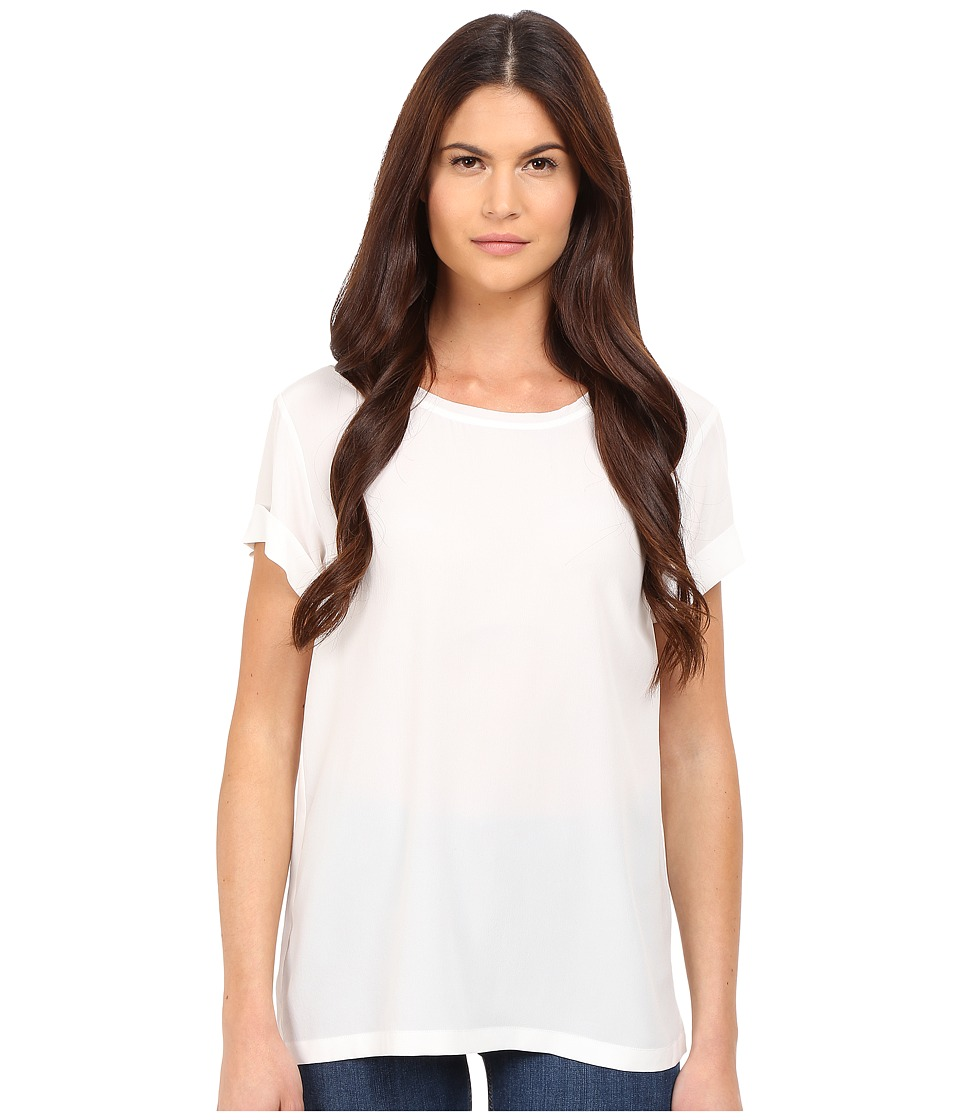 Theory - Bakeeve Summer Silk Tee (White) Women's T Shirt