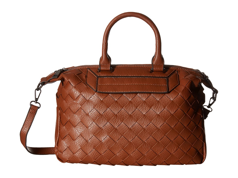 Gabriella Rocha - Jessamine Woven Satchel (Cognac) Satchel Handbags