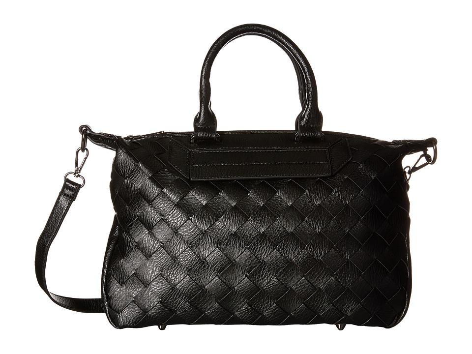 Gabriella Rocha - Jessamine Woven Satchel (Black) Satchel Handbags