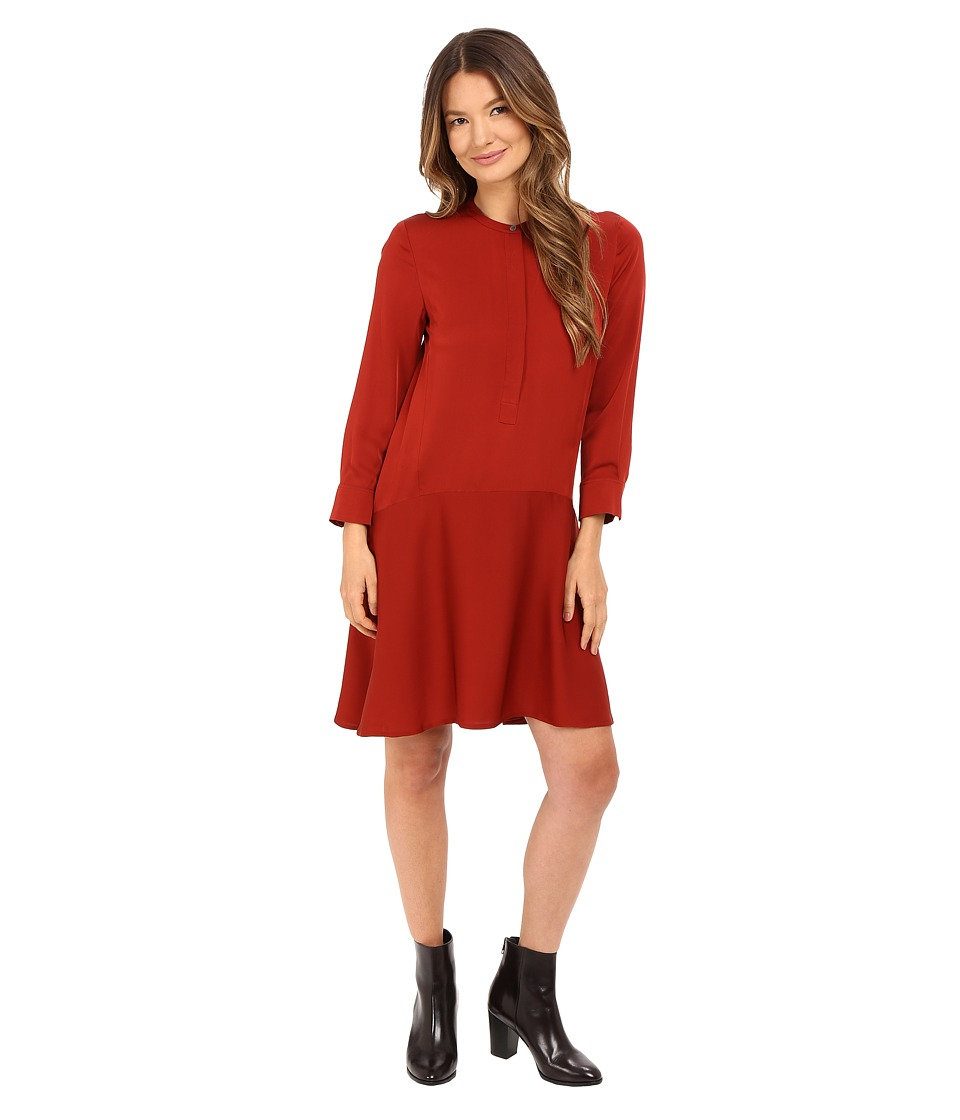 Theory Carstan Modern Dress (Red Oak) Women