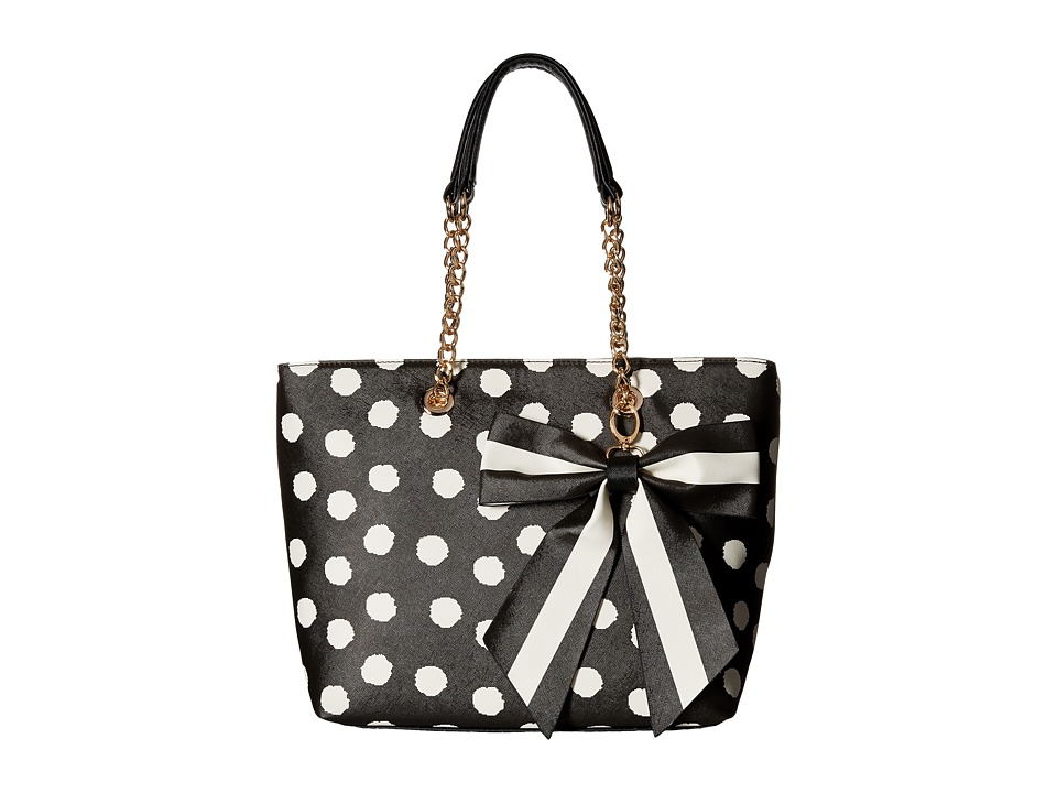 Gabriella Rocha - Dinah Tote with Bow (Black/White) Tote Handbags