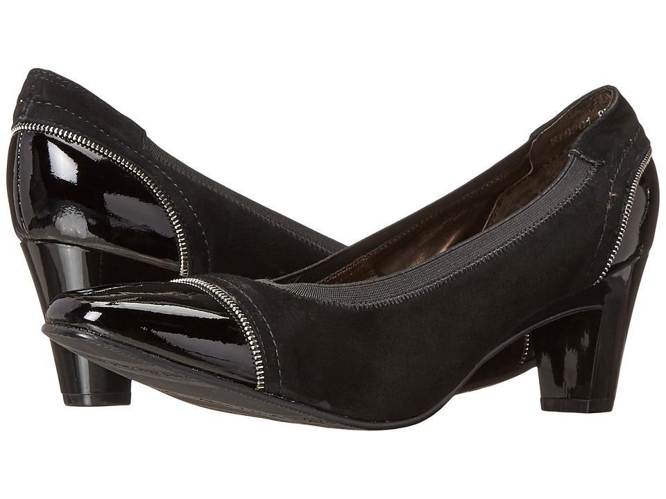 Rose Petals - Regent (Black Suede/Black Patent) Women's Shoes