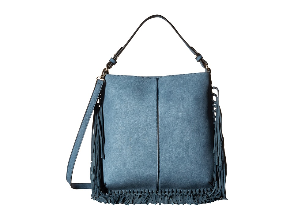 Gabriella Rocha - May Shoulder Purse with Fringe (Blue) Wallet Handbags