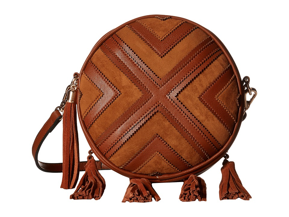 Gabriella Rocha - Roxanne Round Crossbody Purse with Fringe (Camel) Wallet Handbags