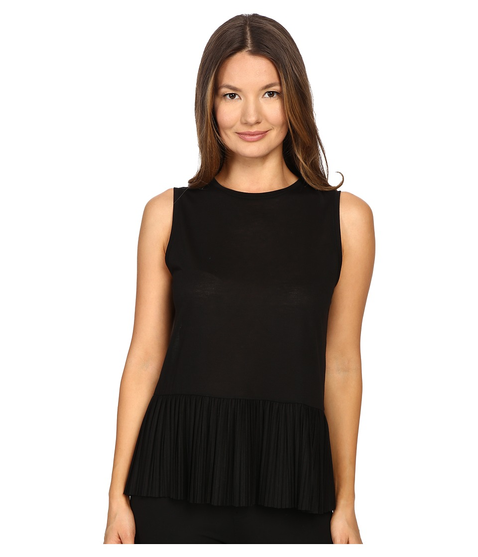 Theory - Elvnee Drapey Tee (Black) Women's Blouse