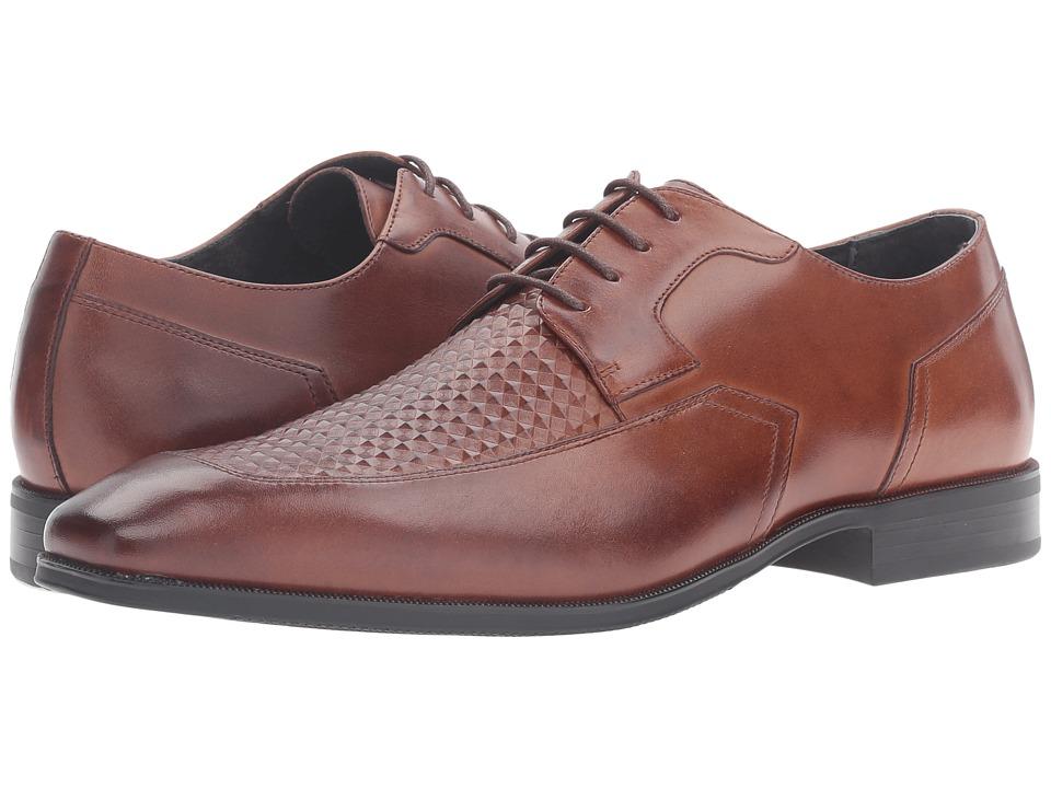 Stacy Adams - Faxon Moc Toe Oxford (Cognac) Men's Lace Up Moc Toe Shoes