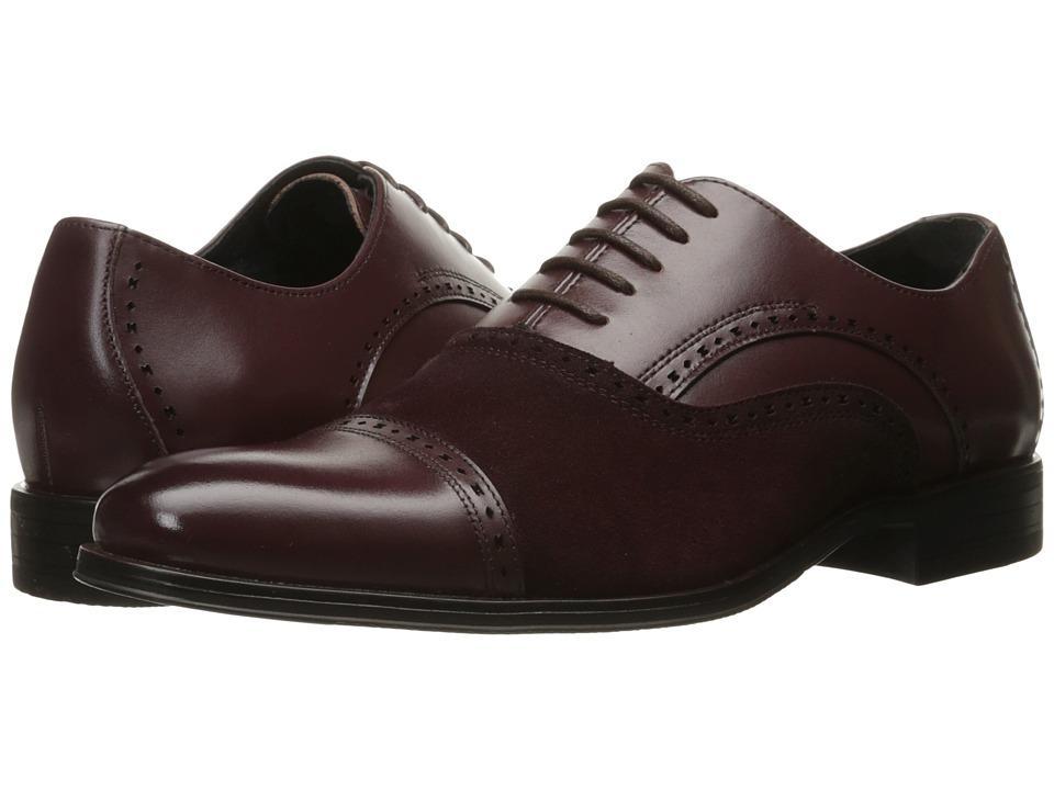 Stacy Adams - Sedgwick Cap Toe Oxford (Oxblood) Men's Lace Up Cap Toe Shoes