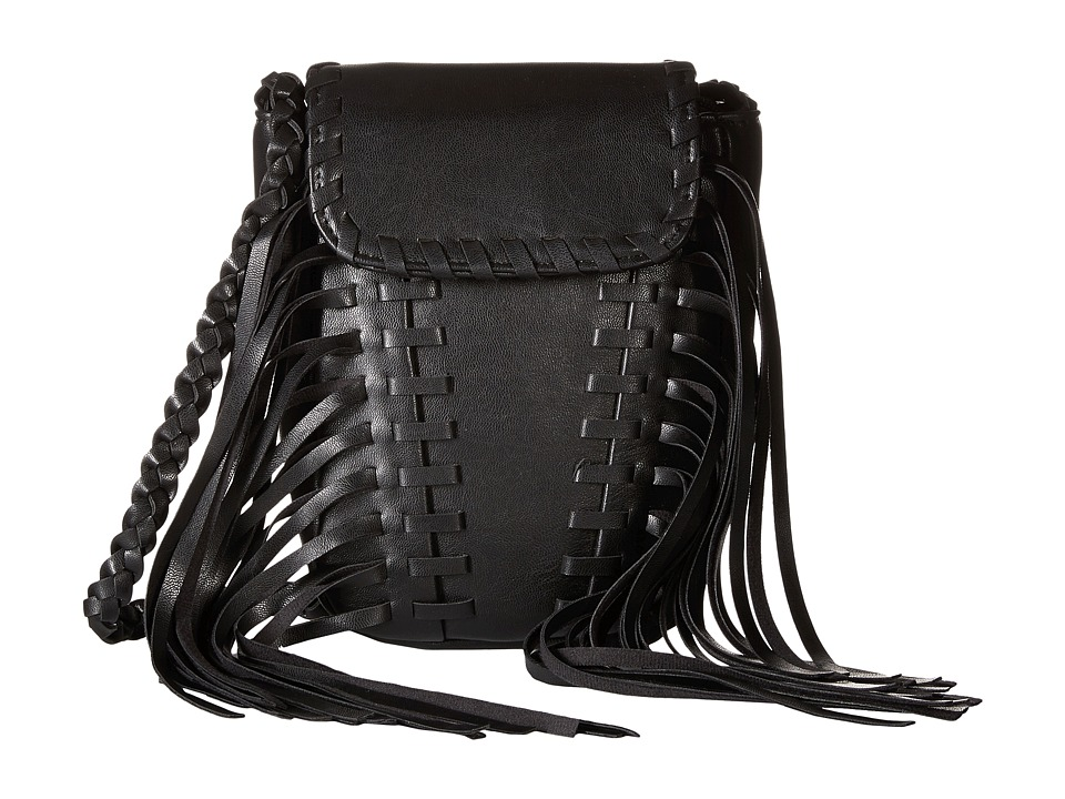 Gabriella Rocha - Sheilla Crossbody with Fringe (Black) Cross Body Handbags