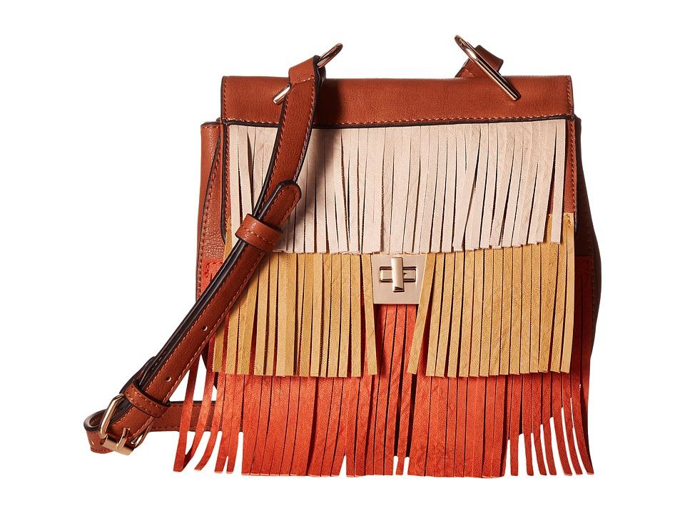 Gabriella Rocha - Polly Multicolor Fringe Crossbody (Brown) Cross Body Handbags