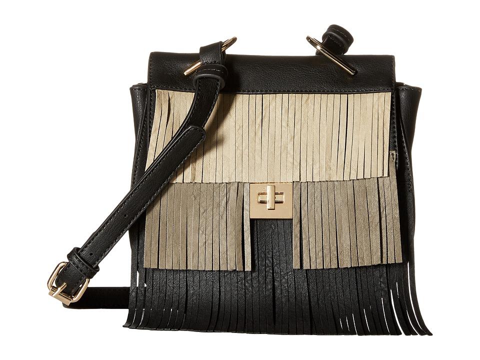 Gabriella Rocha - Polly Multicolor Fringe Crossbody (Black) Cross Body Handbags
