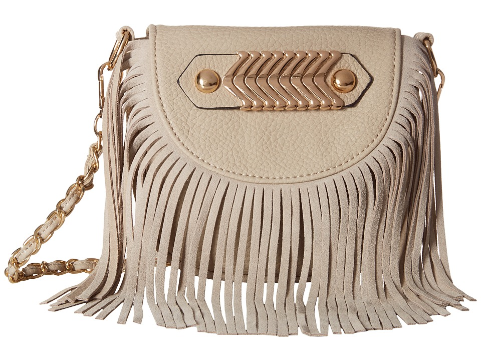 Gabriella Rocha - Maura Crossbody with Fringe and Gold Detail (Stone) Cross Body Handbags