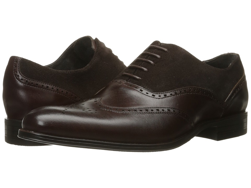 Stacy Adams - Stanbury Wingtip Oxford (Brown) Men's Lace Up Wing Tip Shoes
