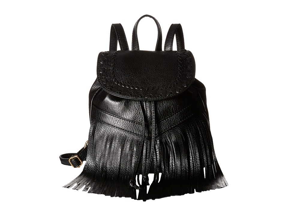 Gabriella Rocha - Lavinia Backpack with Fringe (Black) Backpack Bags