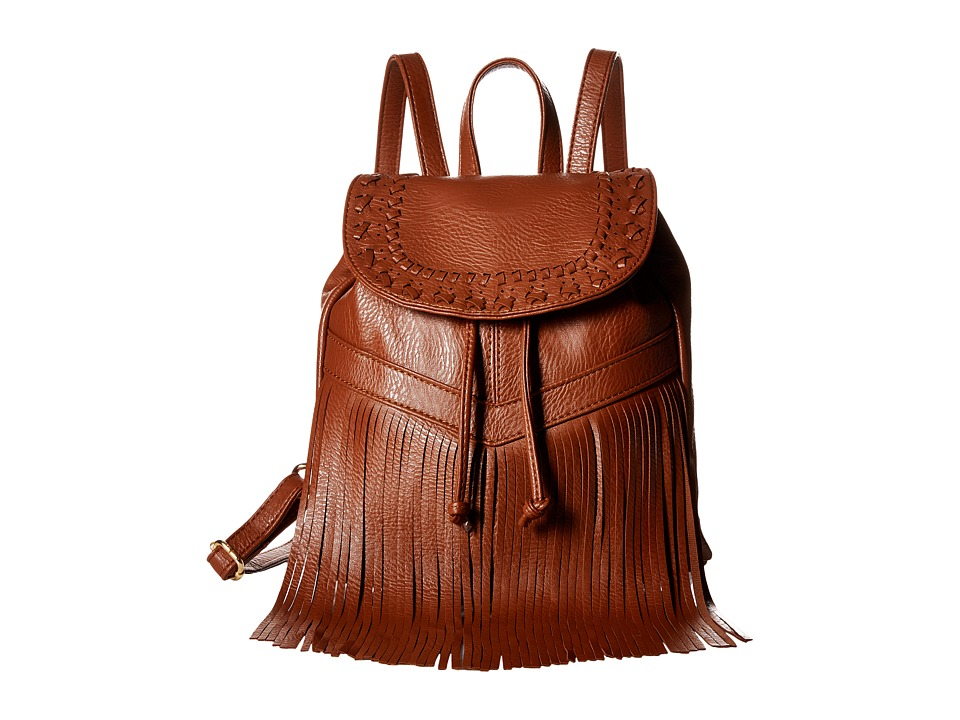 Gabriella Rocha - Lavinia Backpack with Fringe (Brown) Backpack Bags