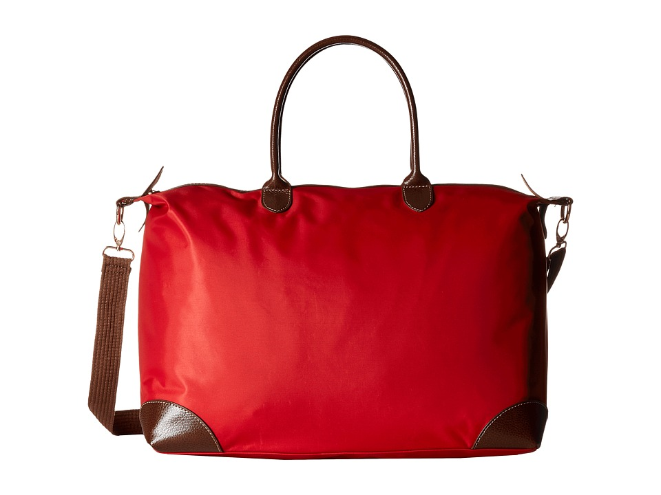 Gabriella Rocha - Antonia Nylon Bag with Faux Leather Trim (Red) Bags