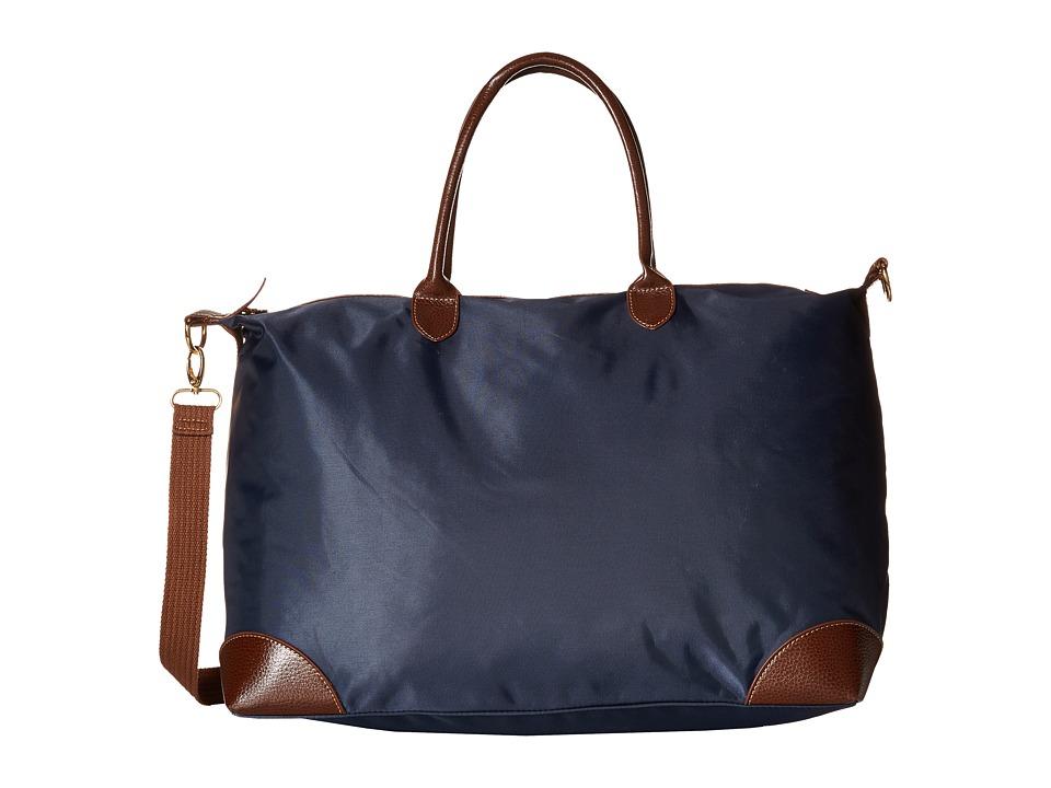 Gabriella Rocha - Antonia Nylon Bag with Faux Leather Trim (Navy) Bags
