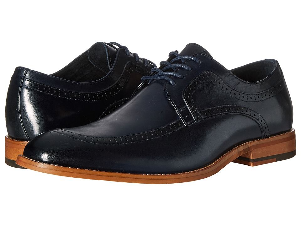Stacy Adams - Dwight Moc Toe Oxford (Navy) Men