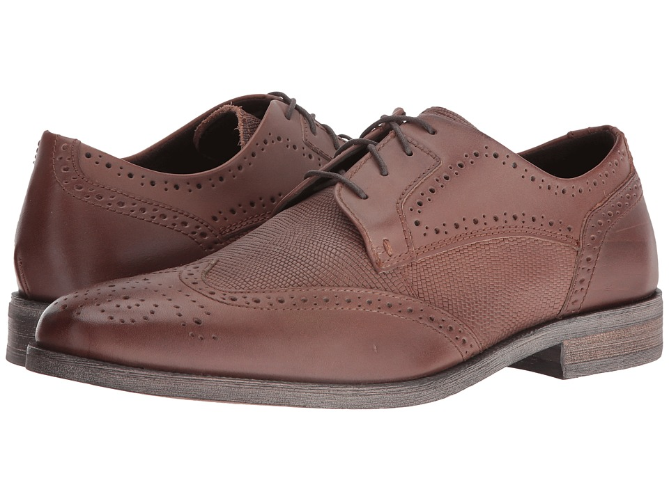 Stacy Adams Bastian Wingtip Oxford (Cognac) Men