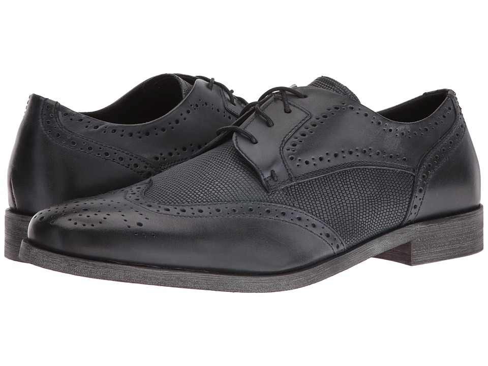 Stacy Adams - Bastian Wingtip Oxford (Black) Men's Lace Up Wing Tip Shoes