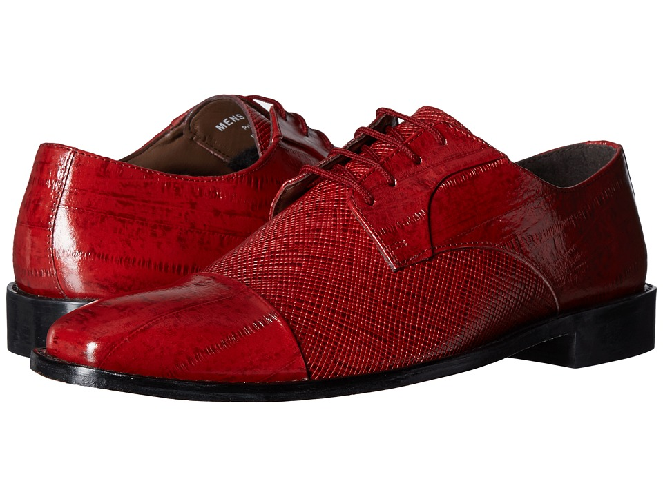 Stacy Adams Gatto Leather Sole Cap Toe Oxford (Red) Men