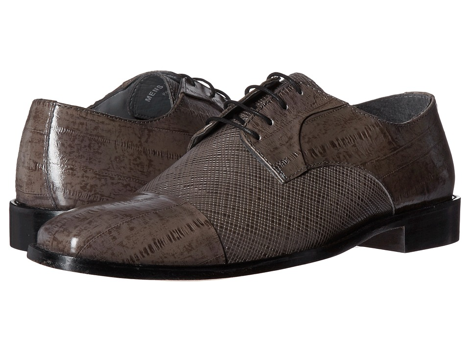Stacy Adams - Gatto Leather Sole Cap Toe Oxford (Gray) Men's Lace Up Cap Toe Shoes
