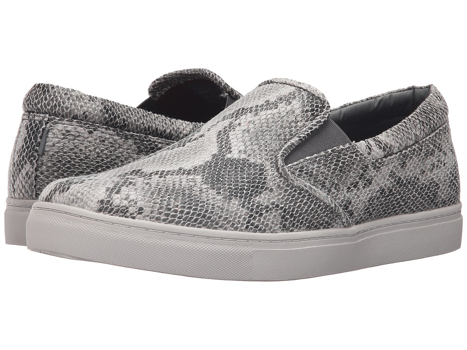 Mark Nason - Maxson (Snake Print Canvas/Gray) Men's Slip on Shoes