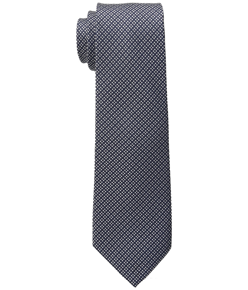 LAUREN Ralph Lauren - Pin Dot Silk Tie (Navy) Ties