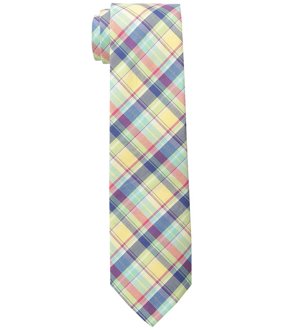 LAUREN Ralph Lauren - Shirting Plaid Cotton Tie (Yellow/Red/Navy) Ties
