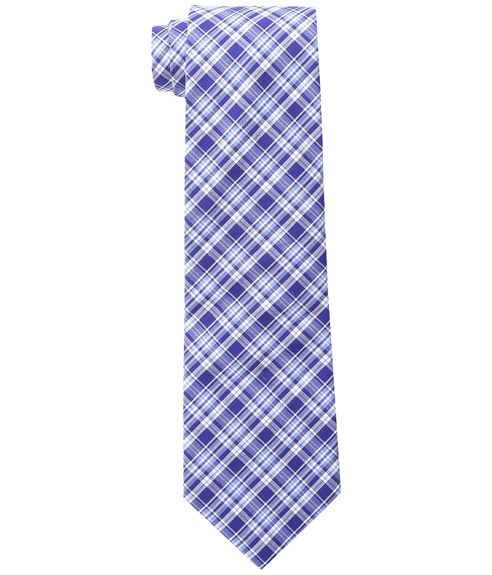 LAUREN Ralph Lauren - Shirting Plaid Cotton Tie (Navy/Blue) Ties
