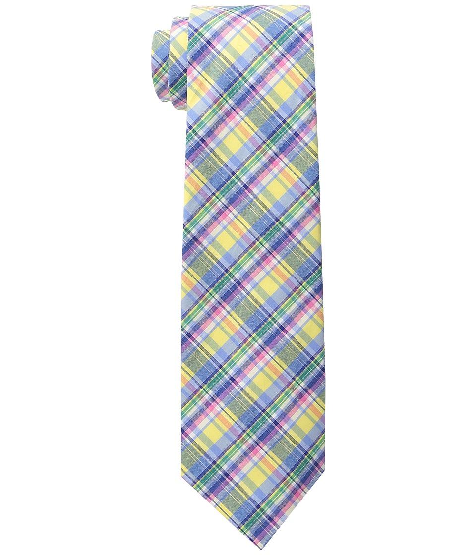 LAUREN Ralph Lauren - Shirting Plaid Cotton Tie (Yellow/Blue/Pink) Ties