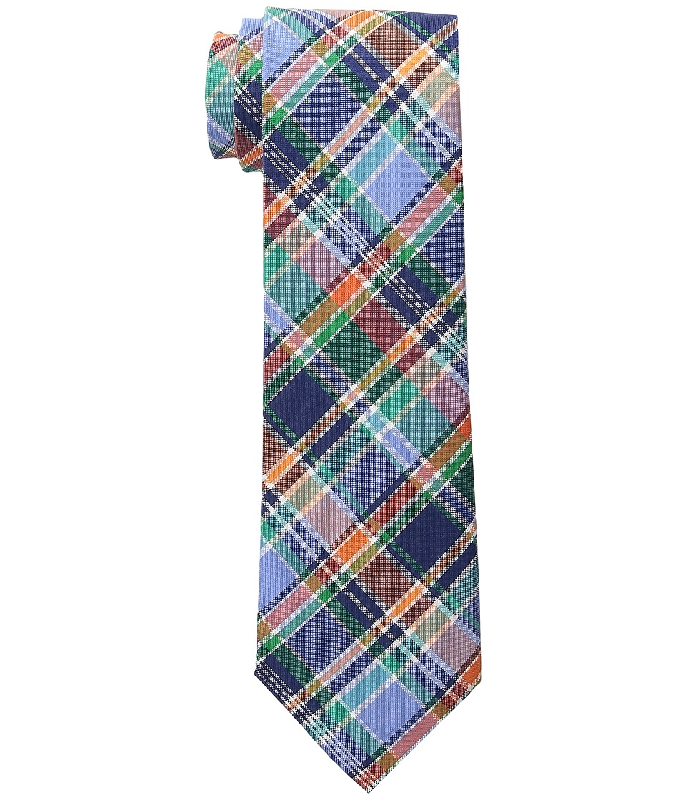 LAUREN Ralph Lauren - Shirting Plaid Cotton Tie (Navy/Orange) Ties